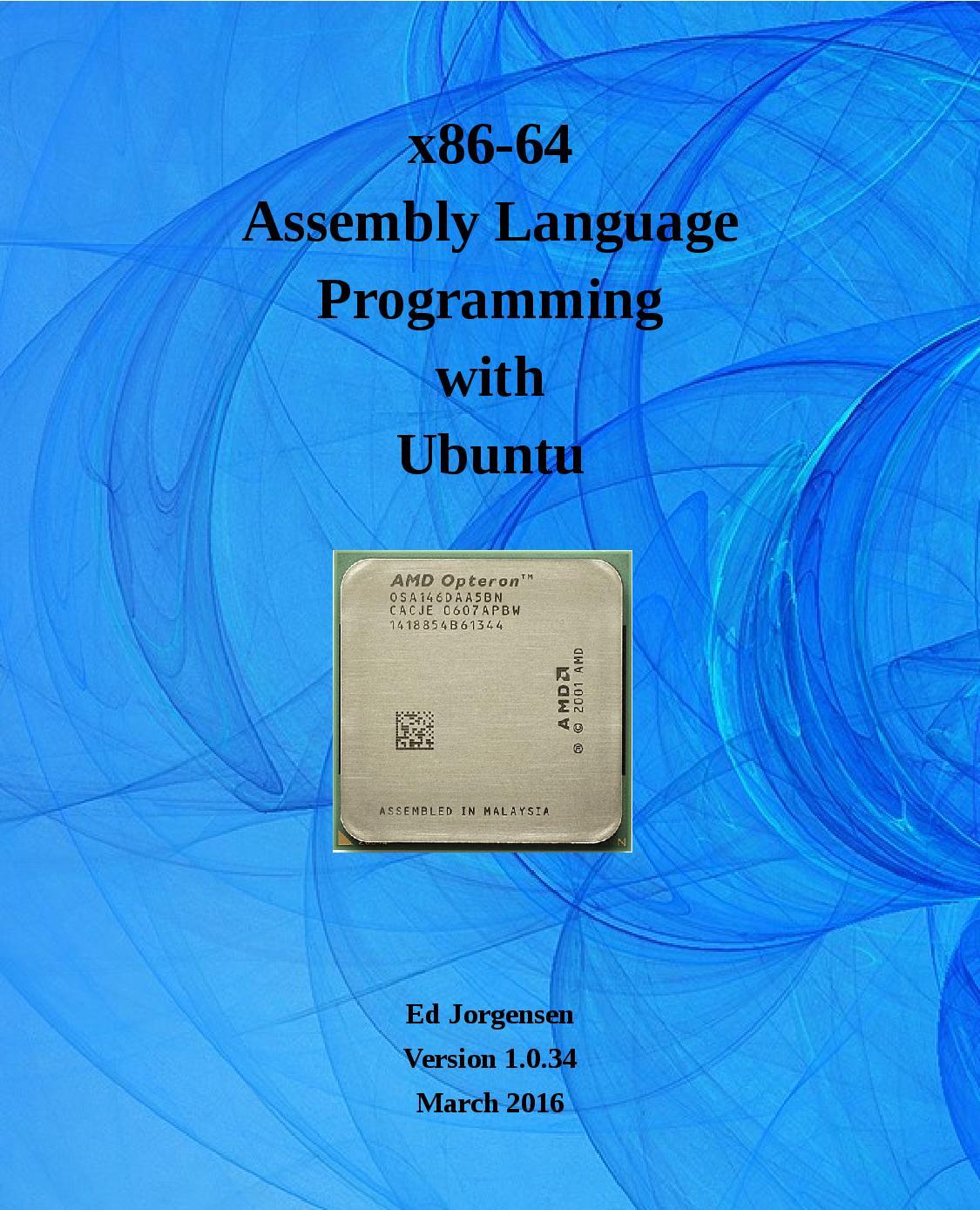 x86-64 Assembly Language Programming with Ubuntu
