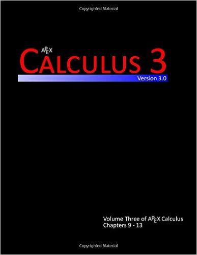 Calculus 3 (APEX Calculus v3.0)