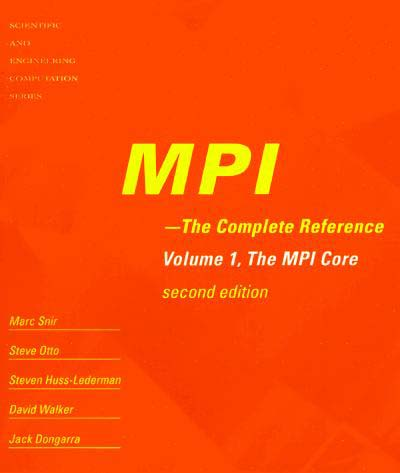 MPI: The Complete Reference
