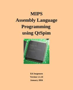 MIPS Assembly Language Programming Using QtSpim
