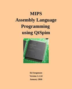 MIPS Assembly Language Programming Using QtSpim