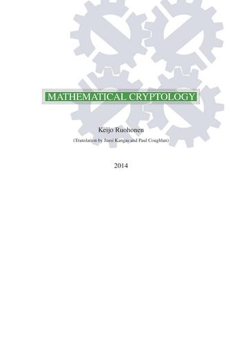 Mathematical Cryptology