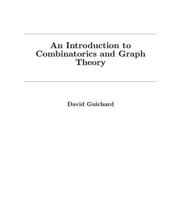 An Introduction to Combinatorics and Graph Theory