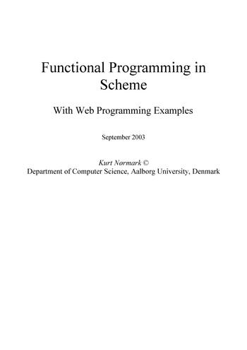 Functional Programming in Scheme