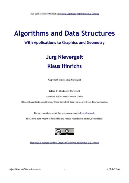 Algorithms and Data Structures With Applications to Graphics