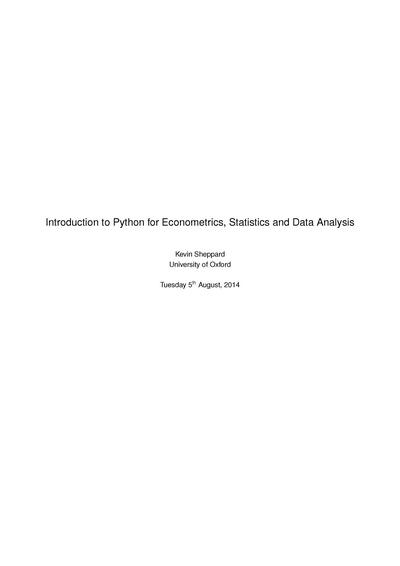 Introduction to Python for Econometrics, Statistics and Numerical Analysis: 3rd Edition, 1st Revision
