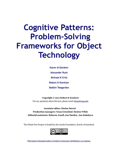 Cognitive Patterns:  Problem-Solving Frameworks for Object Technology