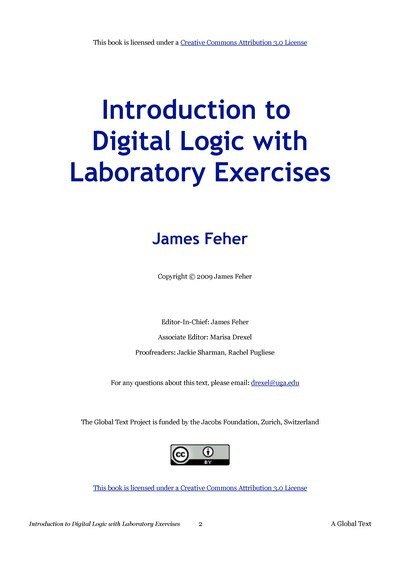 Introduction to Digital Logic with Laboratory Exercises
