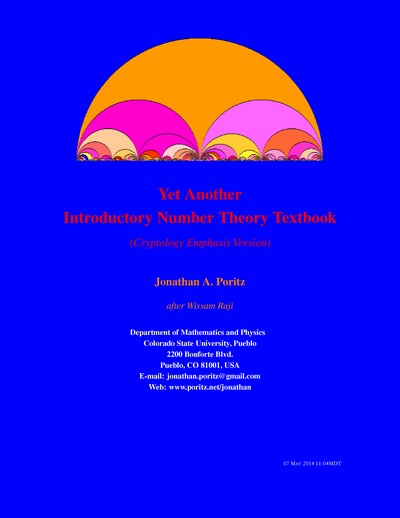 Yet Another Introductory Number Theory Textbook (Cryptology Emphasis Version)
