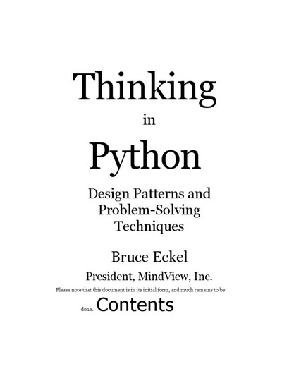 Thinking in Python: Design Patterns and Problem-Solving Techniques